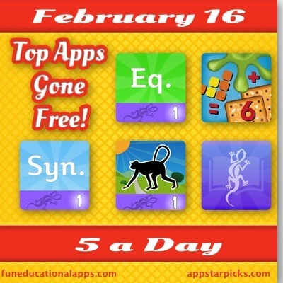 Fun is part of the game of learning! Best Free Educational Apps for Kids Today Feb. 16 - 5 a Day - Fun Educational Apps for Kids | Teaching Resources | Scoop.it