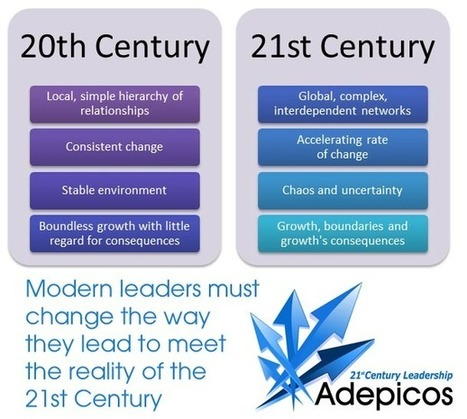 The difference between 20th and 21st Century leadership | Leiderschap in een dynamische context | Scoop.it