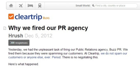 Realised your PR agency is spamming valuable contacts? Fire it and then tell the world | Online Travel, MICE 2.0, Tourism 2.0, Hospitality 2.0, Destinations 2.0 and Events 2.0 | Scoop.it