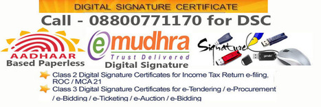 Get Aadhar Based Paperless DSC from e-Solutions at Affordable Price   Digital signature certificates provider   Scoop.it