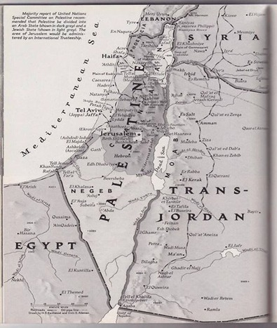 Interesting - Palestine in a 1947 National Geographic map | Brian's Science and Technology | Scoop.it