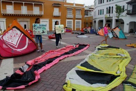 Con 'Olimpiada de Deportes Náuticos sobre Tierra', protestan por desalojo | El Universal Cartagena | DEPORTES | Scoop.it