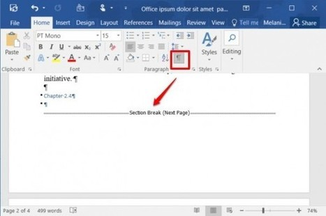 How to Add or Remove Page Breaks in Word 2016 | ANALYZING EDUCATIONAL TECHNOLOGY | Scoop.it