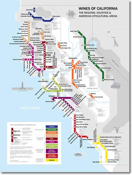 Metro Wine Map of California | Wine in the World | Scoop.it