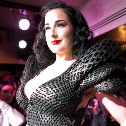 Style Icon Dita Von Teese Debuts 3D-Printed Dress | Made Different | Scoop.it
