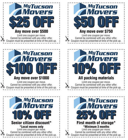 Complimentary Moving Coupons from My Tucson Movers. | My Tucson Movers | Scoop.it