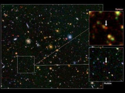 Spitzer and Hubble telescopes find rare galaxy at dawn of time | anti dogmanti | Scoop.it