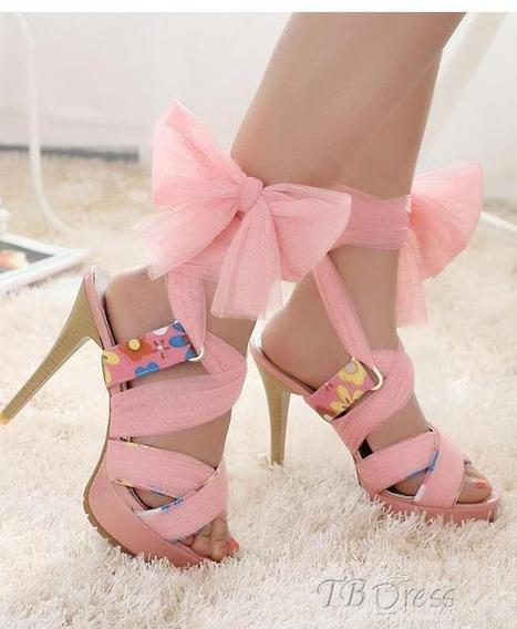 Sweet Pink PU Upper Stiletto Heels Platform Women Sandals   FASHION-BEAUTY-CLOTHES-GIRL   Scoop.it