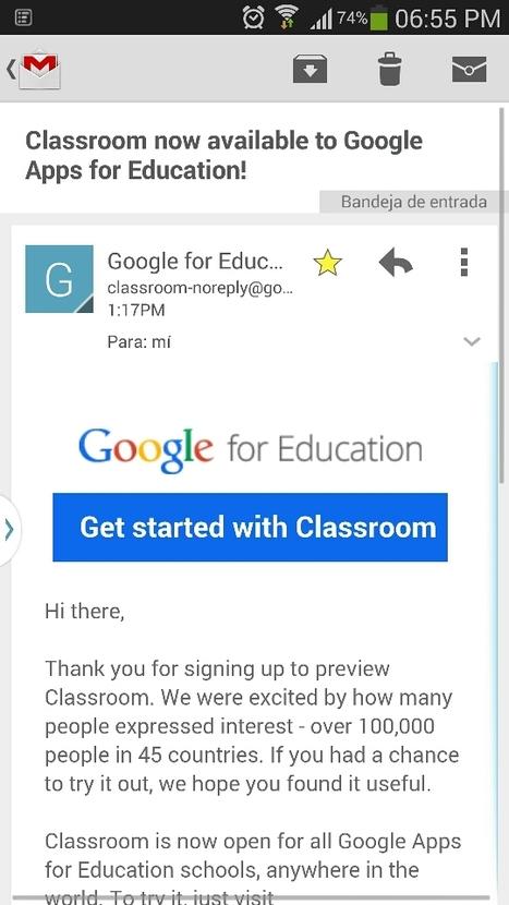 Google Classroom llegó! | Lengua y TIC | Scoop.it