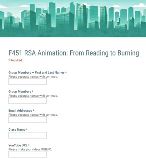 Drive Higher-Order Thinking with RSA Animation | My K-12 Ed Tech Edition | Scoop.it