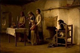 Προσευχή μετά τη θεία μετάληψη , Μέγαρα 1890. Θεόδωρος Ράλλης. | pictures-art | Scoop.it