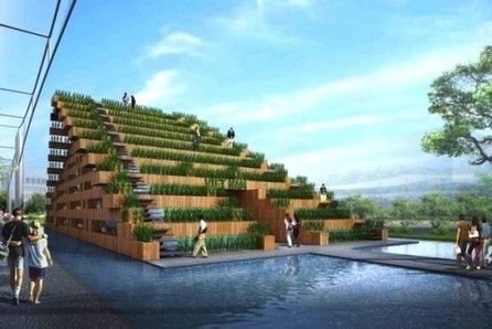 Outdoor Amphitheater Is Also A Rice Paddy [Pics] - PSFK | Growing Food | Scoop.it