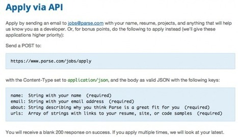 "Jobseekers Invited to ""Apply Via API"" 