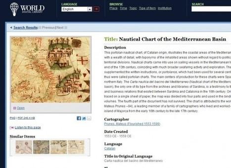 5000 documentos históricos en la Biblioteca digital mundial | #REDXXI | Scoop.it