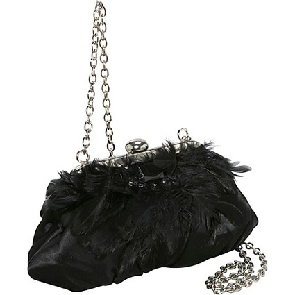 Coloriffics Handbags Satin w/ Feather Accents - Shoulder Bag | I love designer handbags | Scoop.it