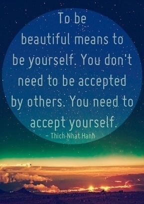 To be beautiful means to be yourself. I think I need this printed and hung in my daughter's room! | What makes a person beautiful | Scoop.it