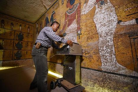 L'analyse radar de la tombe du roi Toutankhamon laisse penser qu'il existe des chambres cachées | L'actu culturelle | Scoop.it