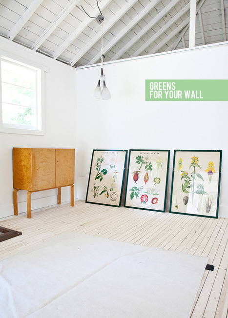 Happy Interior Blog: Greens For Your Wall | Interior Design & Decoration | Scoop.it