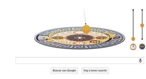 Léon Foucault mueve su famoso péndulo en un doodle de Google   educa   Scoop.it