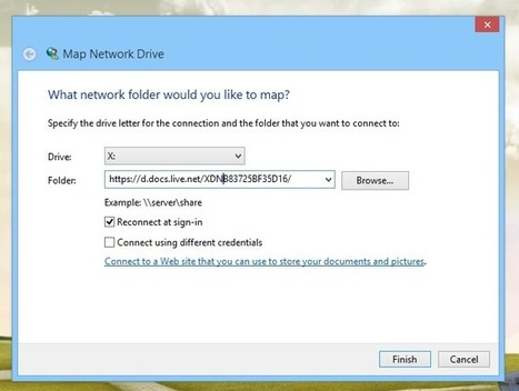 How To Map SkyDrive Folder As Network Drive In Windows 8 And RT | Tecnología y Gadgets ES | Scoop.it