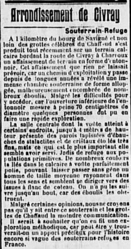 Quand Savigné vous sera conté | L'affaissement de mars 1927 | Rhit Genealogie | Scoop.it