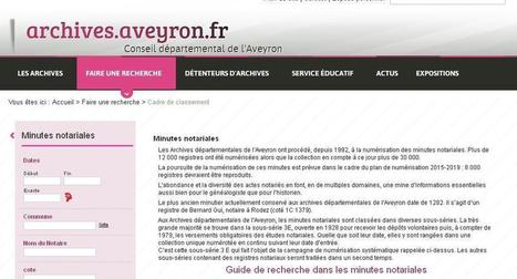 Aveyron, archives notariales | CGMA Généalogie | Scoop.it