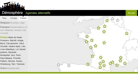 Démosphère   Carte des agendas alternatifs   Les cartes des Alternatives - Géographie de la transition   Scoop.it