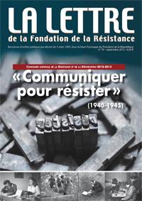 Brochure numérique de la  Lettre de la Fondation de la Résistance | Communiquer pour résister 1940-1945 | Scoop.it