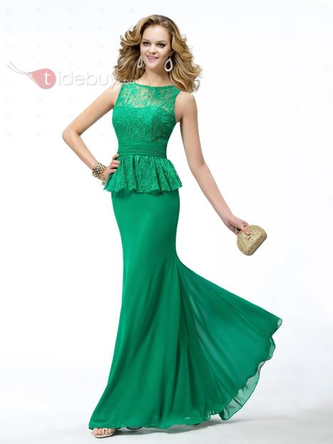 Modern Trumpet/Mermaid Bateau Neckline Lace Evening Dress   wedding time   Scoop.it