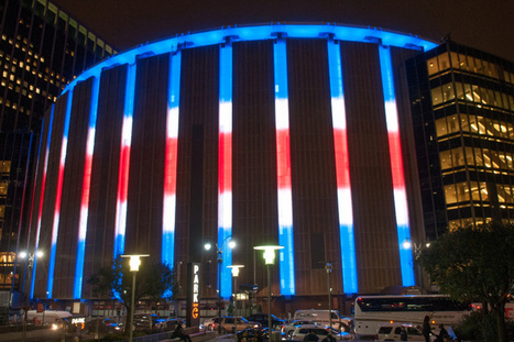 Madison Square Garden's outside to light up with team colors   LED Lighting   Scoop.it