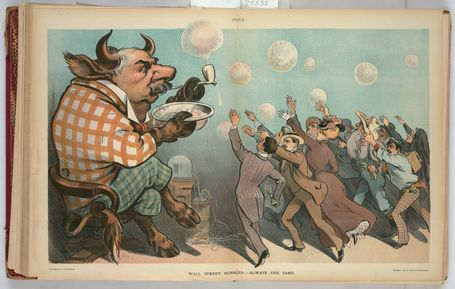 TR Center - Wall street bubbles; - always the same - 1901 | Antiques & Vintage Collectibles | Scoop.it