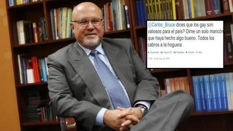 Carlos Bruce recibe insultos tras confesar su homosexualidad | Frank Gómez n° Infinito | Scoop.it