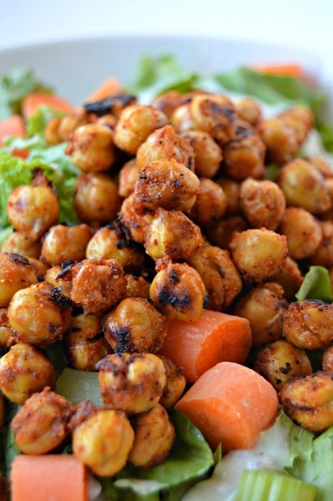 Roasted Buffalo Chickpeas + Buffalo Chickpea Salad (Vegan) | Nutrition Today | Scoop.it
