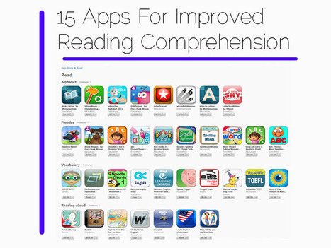 15 Of The Best Educational Apps For Improved Reading Comprehension | Go Go Learning | Scoop.it