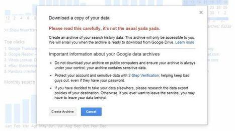 Now You Can Download Your Google History—Or Better Yet, Delete It | Bazaar | Scoop.it