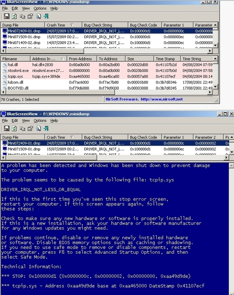 Blue screen of death (STOP error) information in dump files. | Trucs et astuces du net | Scoop.it