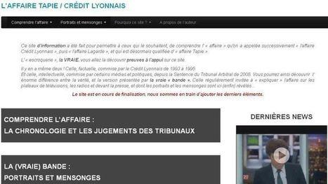 Bernard Tapie : un site Internet pour se défendre | Mais n'importe quoi ! | Scoop.it