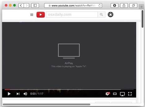 How to AirPlay YouTube from Mac to Apple TV | idevices for special needs | Scoop.it
