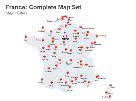 France Map - Editable in Apple Keynote | Chamonix Chalet Chrishtmas | Scoop.it