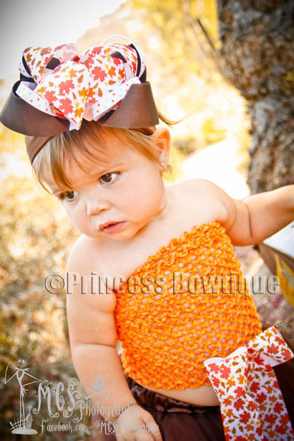Thanksgiving Hair Bows, Fall Hair Bows- Thanksgiving Baby Headbands- Fall Baby Bows | New Looks! | Scoop.it