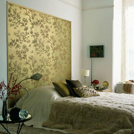 Zen Bedrooms | Trend alert: Wallpaper Headboards | Bedroom Wallpaper | Scoop.it