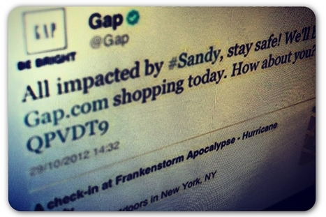 Gap veers from its social media policy in Twitter blunder | Articles | Home | Online crisis management | Scoop.it