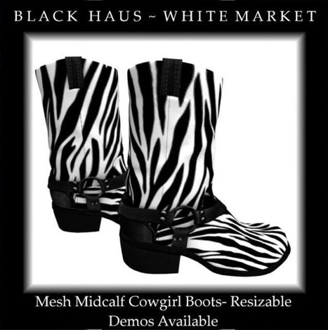 Mesh Cowgirl Boots | A Collection of Second Life Blogs | Scoop.it