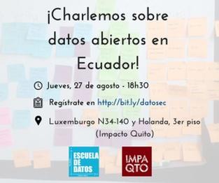 ¡Charlemos sobre datos abiertos en Ecuador!