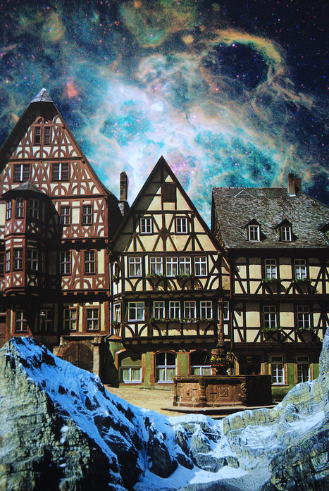 Intricately Handmade Collages Offer a Seamless View of Otherworldly Scenes | Le It e Amo ✪ | Scoop.it