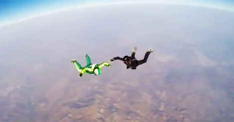 The Physics Behind a Madman's Parachute-Free Skydive Into a Giant Net | PhysicsLearn | Scoop.it
