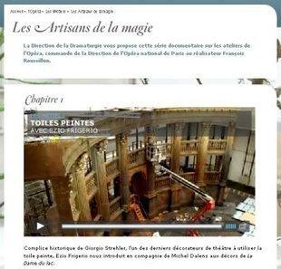 IL Y A 5 ANS...L'opéra de Paris enrichit son site d'une série documentaire | Clic France | Scoop.it