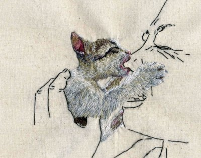 Embroidery Art of Animals Behaving Badly | Handstitched artwork | Scoop.it