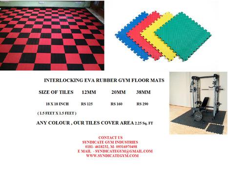 Interlocking Rubber mats   Gym Equipment Manufacturer in Punjab   Scoop.it