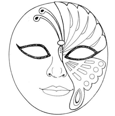 Mascaras de Carnaval para Colorir   Imagens Para Colorir   Hort escolar i manualitats   Scoop.it